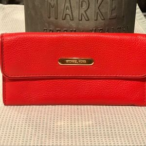 Coral MK soft leather wallet